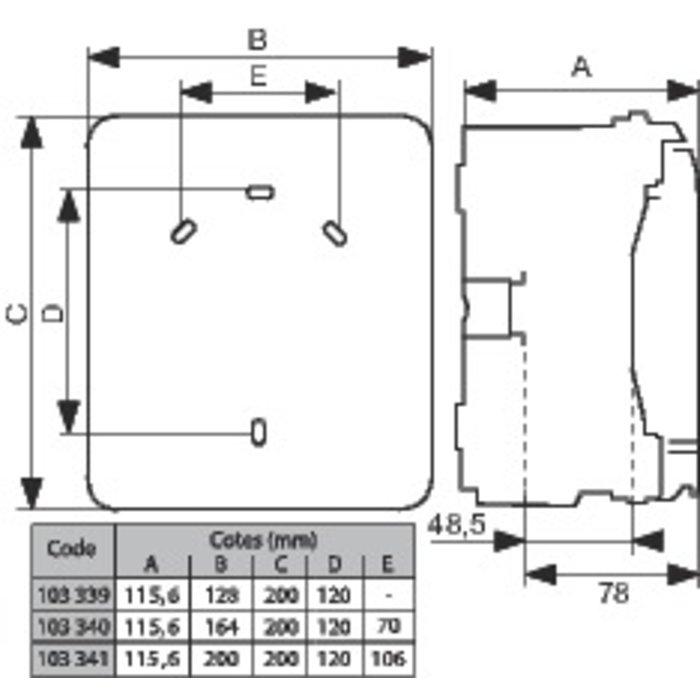 Coffret de distribution Plexo³ - 4 à 8 modules-1