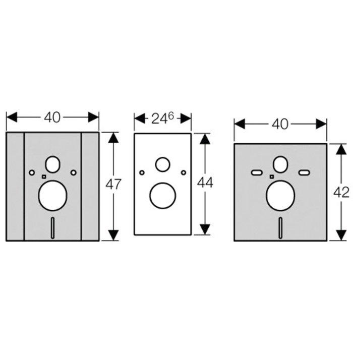 Set de finition pour Duofix hauteur de cuvette réglable-1