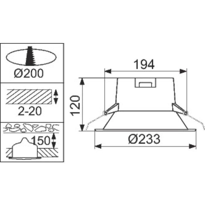 Spot d'intérieur Downlight LEDinaire à LED DN060B 8S-2