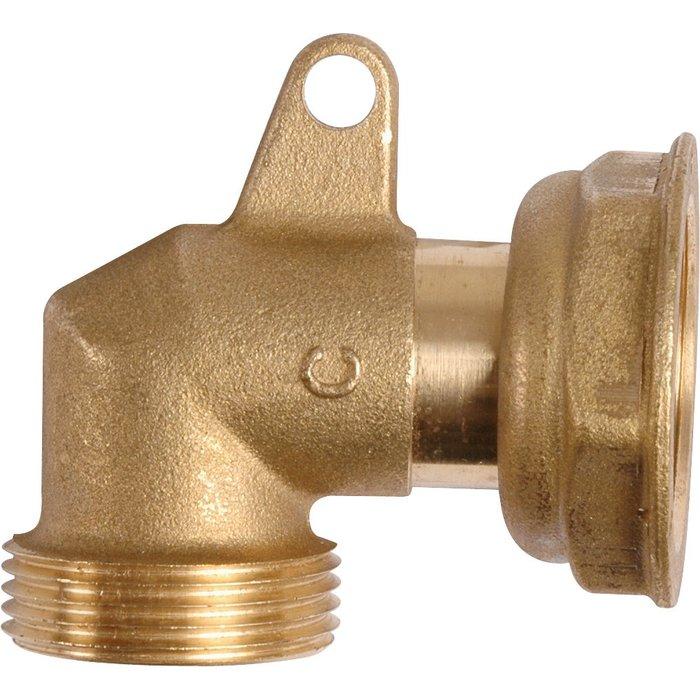 Raccord coudé à 90° - Pour liaison entre le compteur de gaz et le régulateur