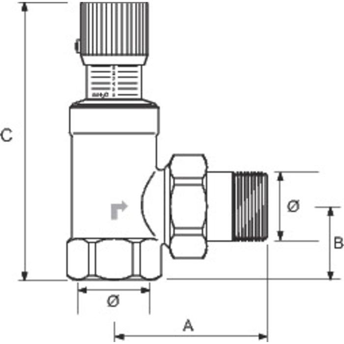 Soupape de pression différentielle de décharge - Mâle / Femelle-1