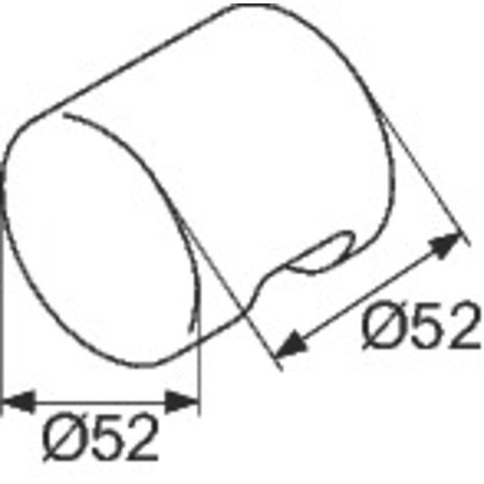 Bouton de porte NY.TK 80 pour cloison modulaire - Jeu de 2-1
