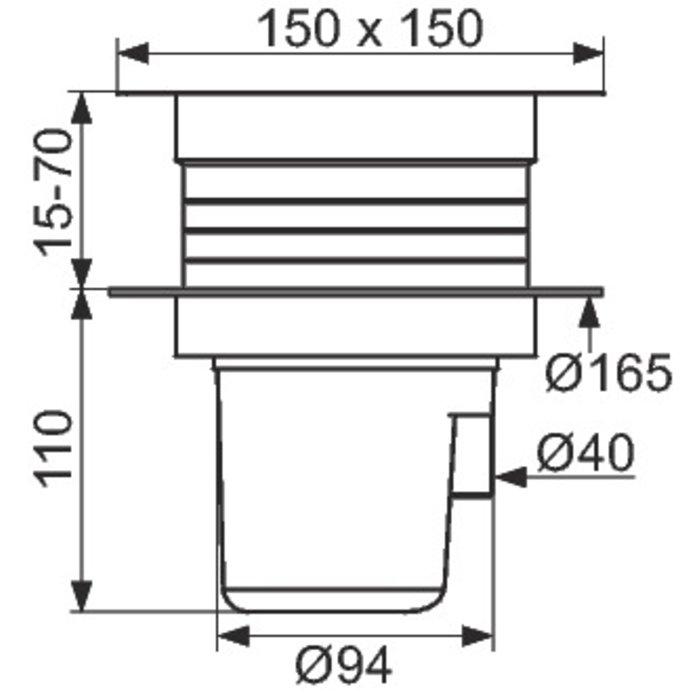 Siphon de sol à hauteur réglable-2
