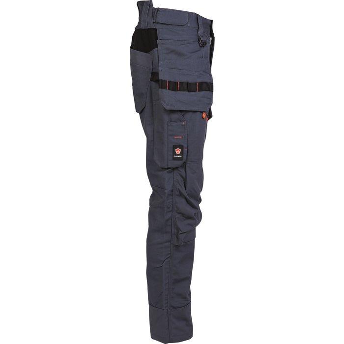 Pantalon de travail multipoches Brakel - Toile - Gris-3