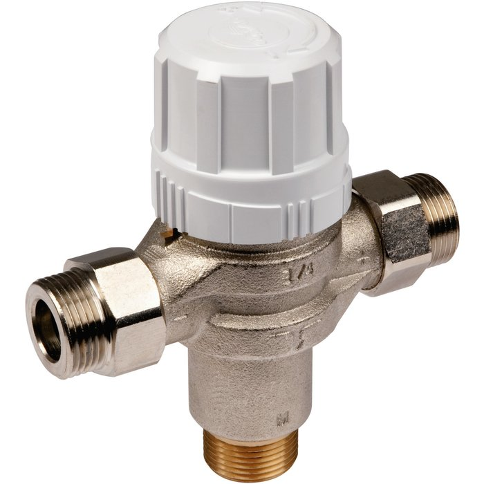 Régulateur thermostatique central pour distribution d'eau chaude