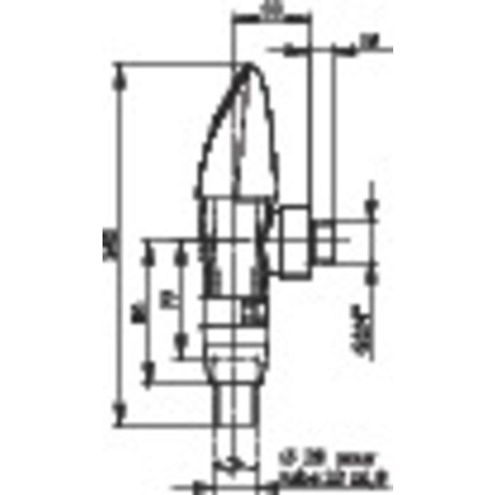 Robinet applique pour chasse P1000 XL-1
