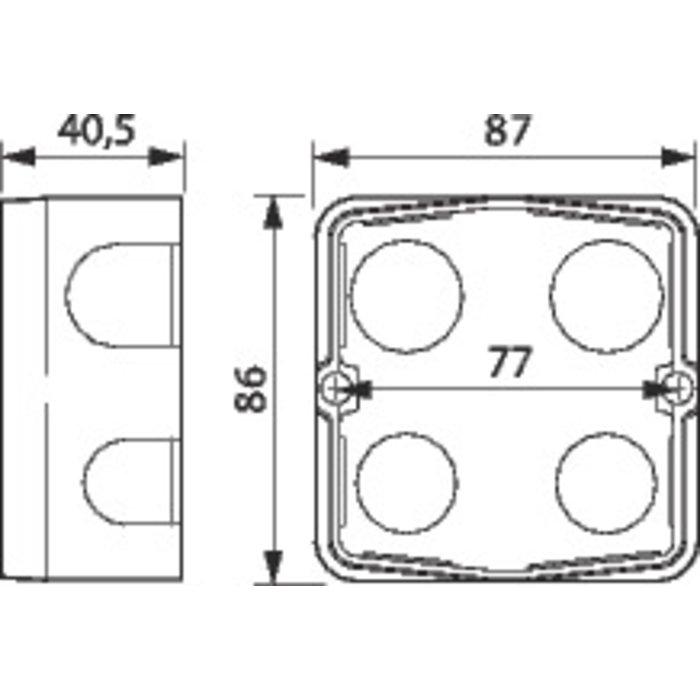 Boîte d'encastrement Batibox - Maçonnerie - Pour prises 20 et 32 A - 1 poste-1