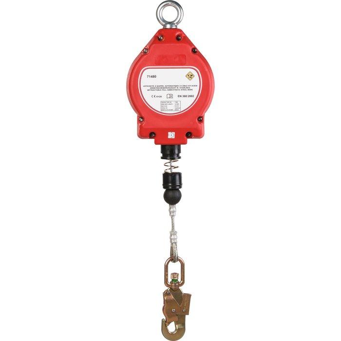 Antichute à rappel automatique avec 1 connecteur - Longueur maximum 10 m