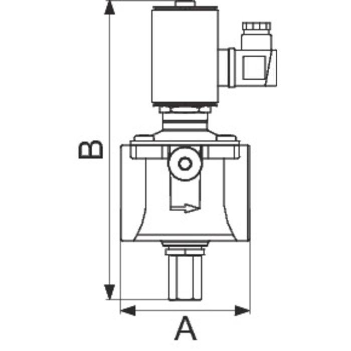 Electrovanne gaz à réarmement manuel - Pression de sortie 500 mbar-1