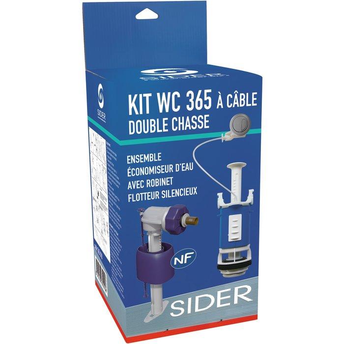 Kit mécanisme de WC 365 à câble - Poussoir double débit-3