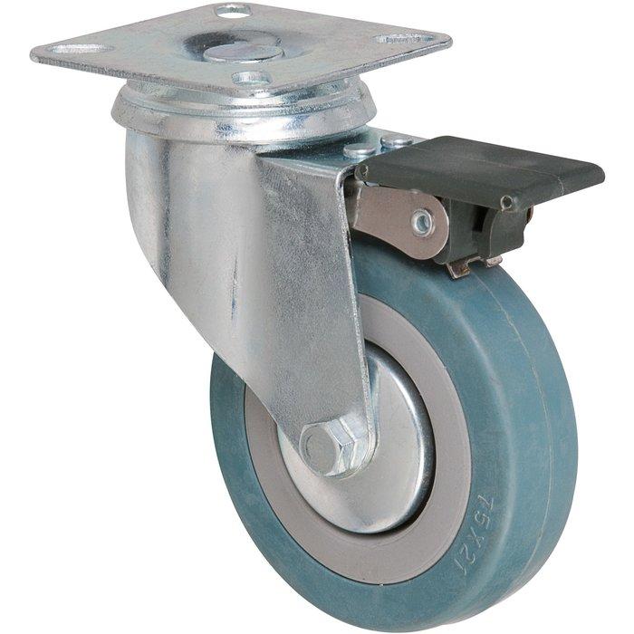 Roulette pivotante série S14 AF - À platine avec frein-2
