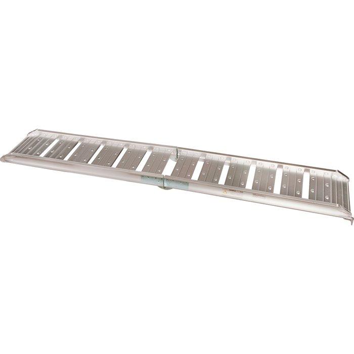 Paire de rampes d'accès pliable - Spécial petites roues - Aluminium - Dimension 183 x 25 cm