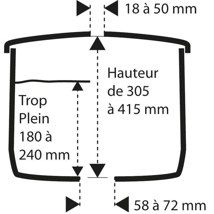 Kit mécanisme de WC 467 - Poussoir simple débit-1