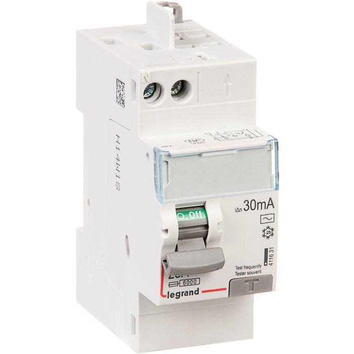 Interrupteur différentiel DX³-ID - Bipolaire - Protection tête de groupe - Arrivée haut / Départ haut