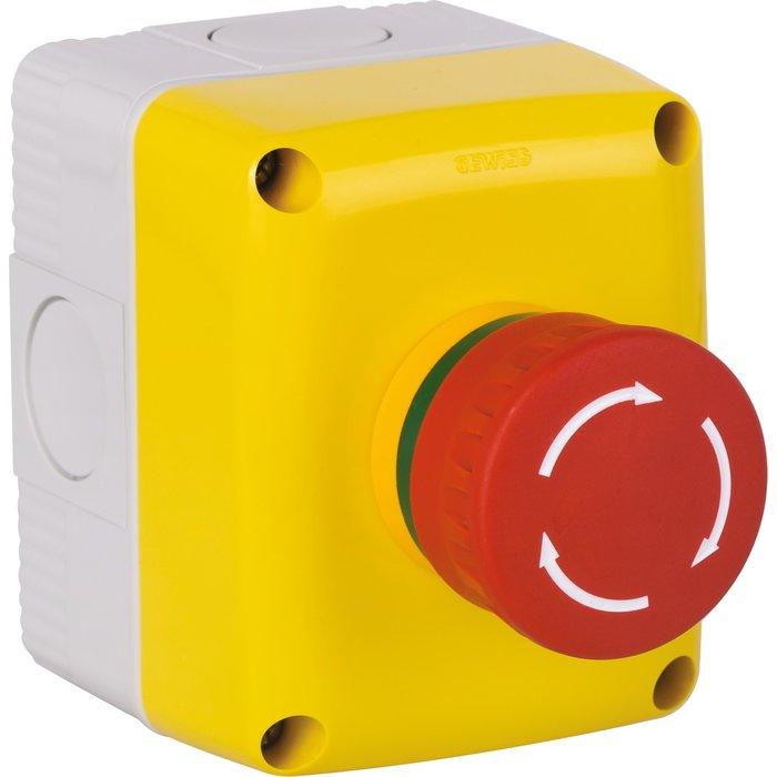 Bouton-poussoir de sécurité - Arrêt-d'urgence - 1 poste