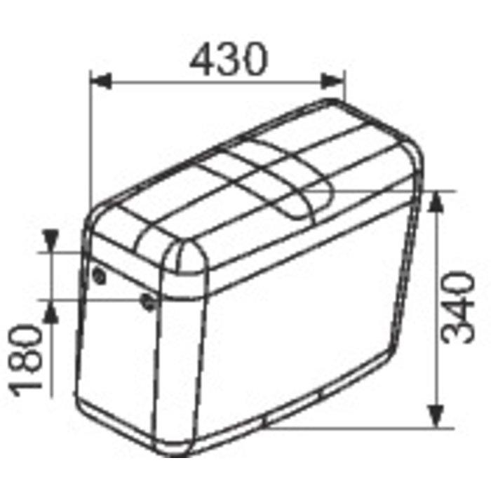 Réservoir WC attenant FZ 500 - Interrompable-1