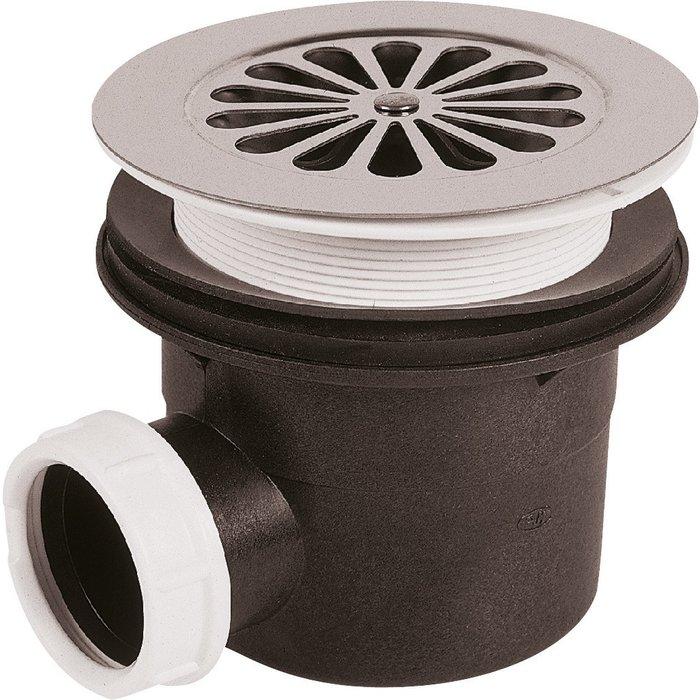 Bonde de douche à grille - Pour receveur diamètre 90 mm