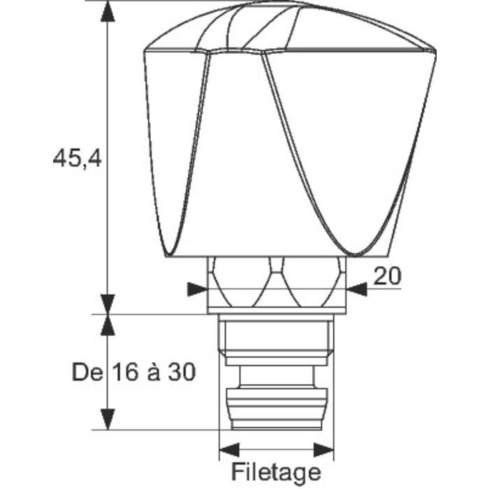 Tête universelle Minisider - Croisillon ABS-1