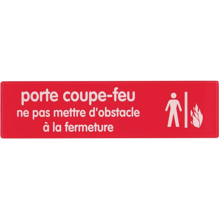 Plaque signalétique d'interdiction sur lieu de travail - Rouge-3