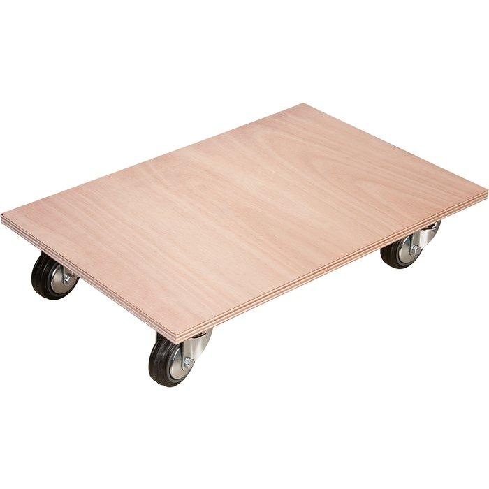 Plateau à roulettes surface bois