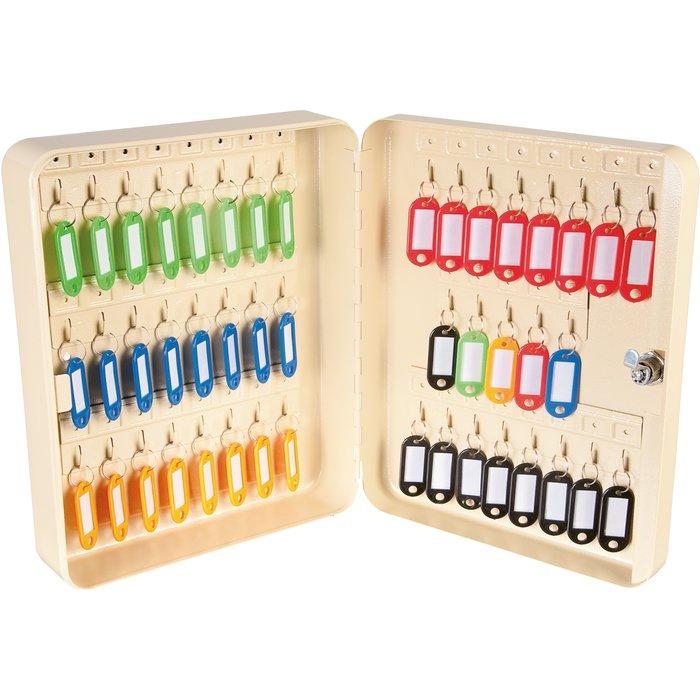 Armoire à clés à crochet fixe - Beige-1