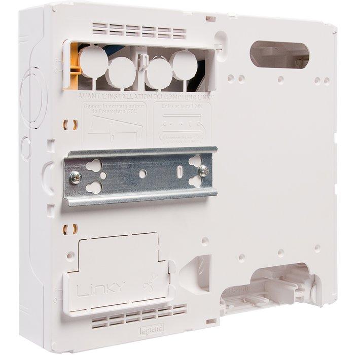 Platine pour disjoncteur de branchement - Pour coffret Drivia 13 / 18 modules-2