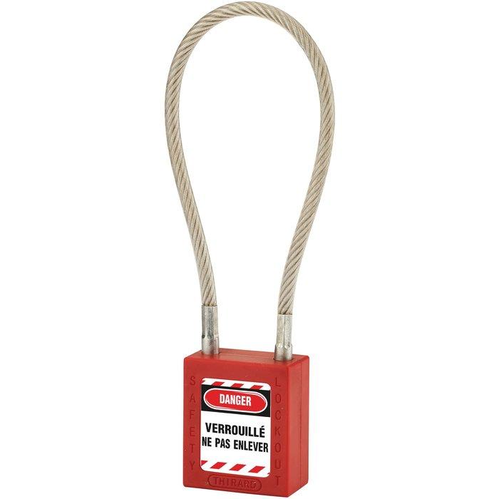Cadenas de consignation à câble - Avec 1 clé-1
