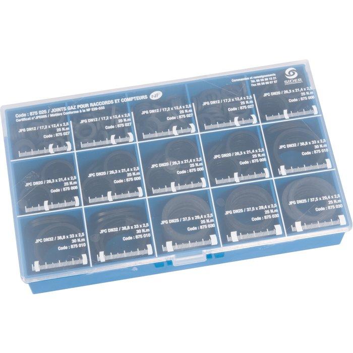 Joints caoutchouc gaz NF - Minikit de 440 pièces