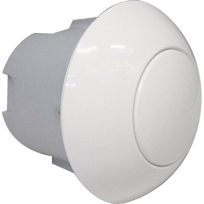 Bouton poussoir WC pneumatique - À encastrer