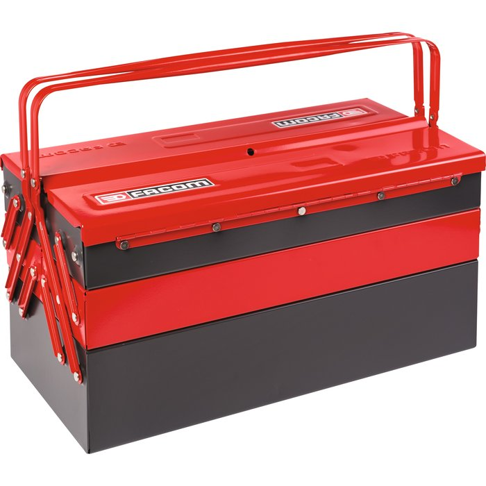 Caisse à outils 5 compartiments - 2 volumes de rangement