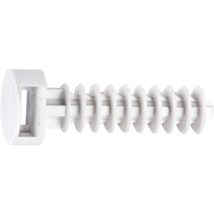 Embase pour collier de fixation - À cheville - Gris - Vendu par 100-1