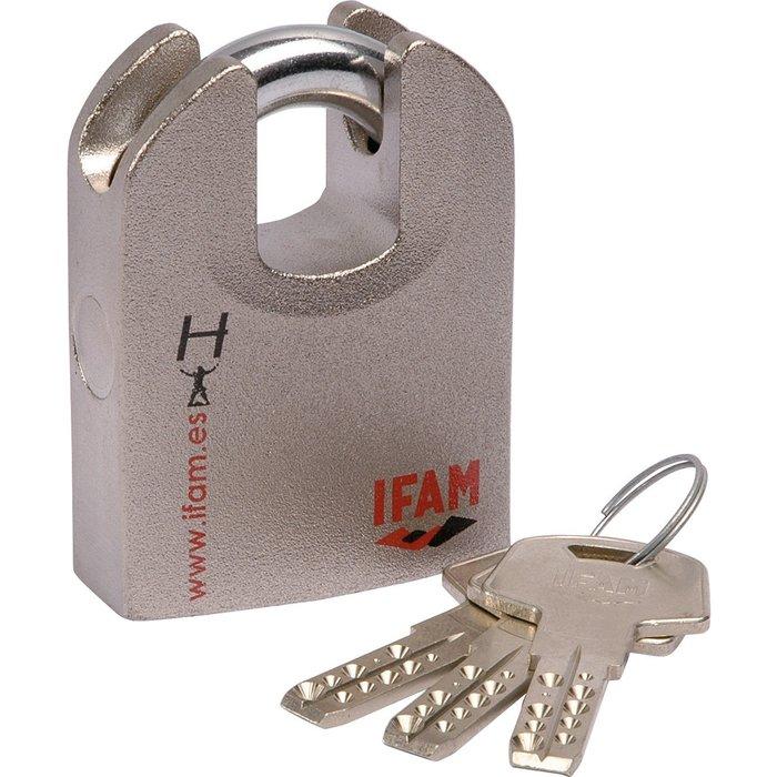 Cadenas à clé Hercule chromé - Varié - Avec 3 clés réversibles-1