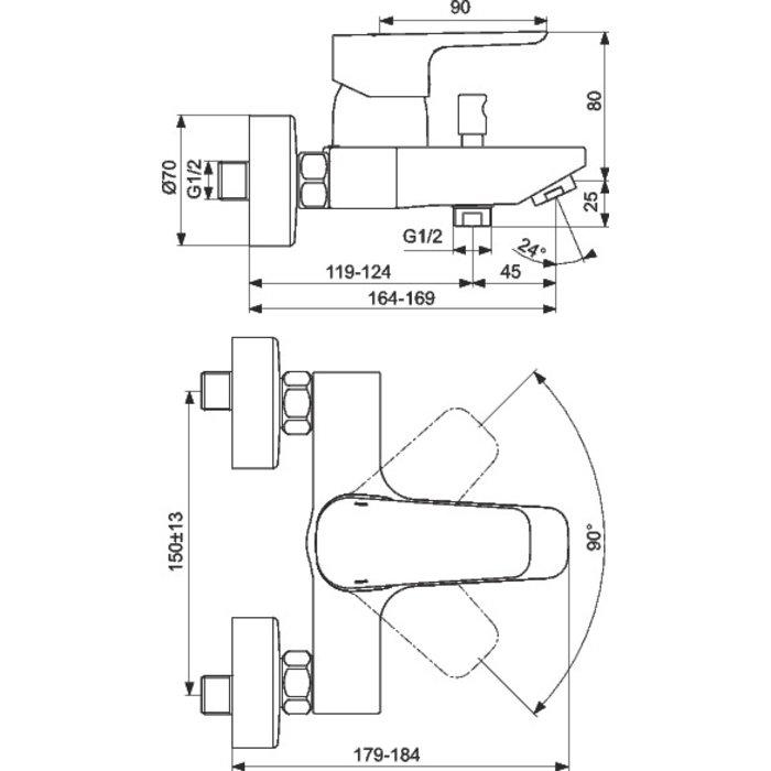 Mitigeur bain-douche Kheops-1