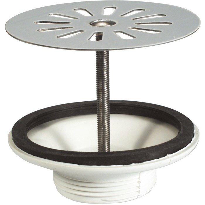 Bonde à grille plate pour évier grès - Plastique