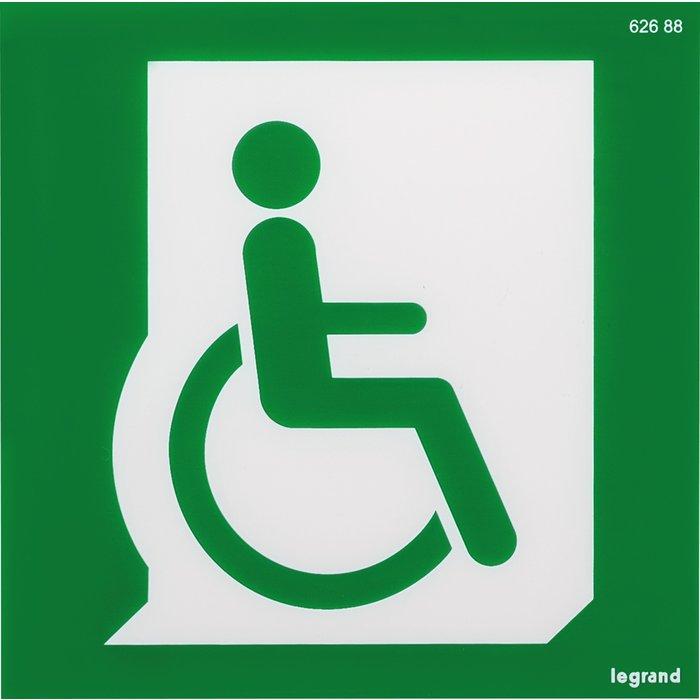 Étiquette de signalisation d'évacuation pour personnes à mobilité réduite repositionnable et recyclable-1