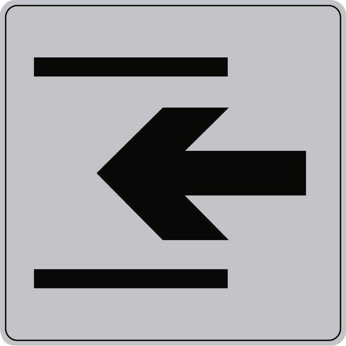 Plaque signalétique carrée Série ISO 7001 - Gris / Noir-5