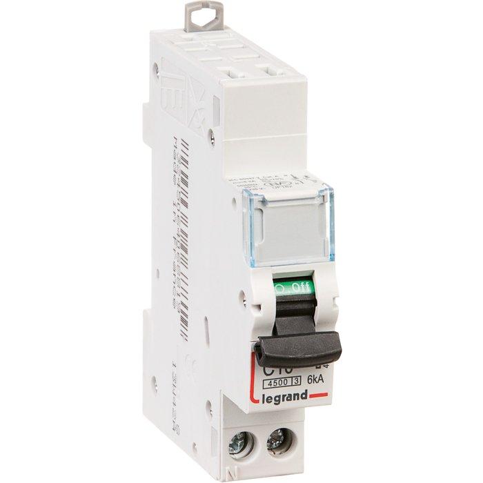 Disjoncteur DX³ 4500 - 6 kA - Courbe C - Protection des départs - 1 module