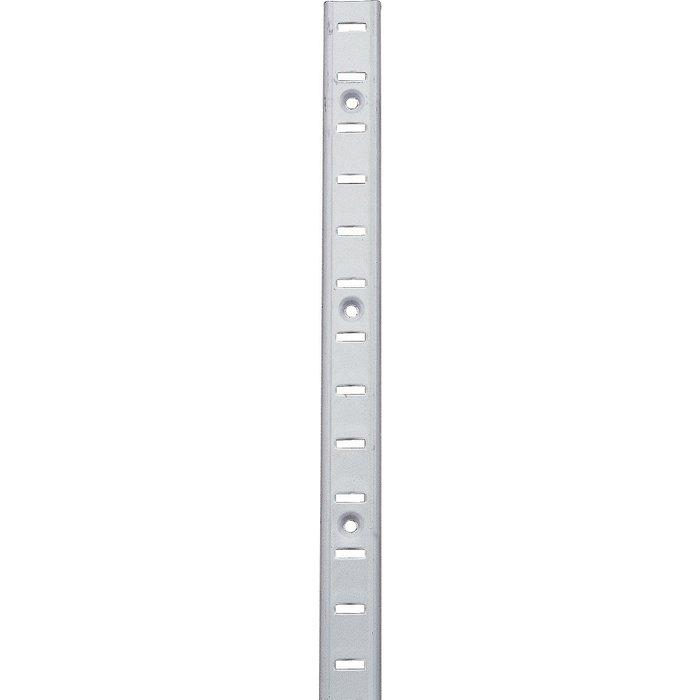 Crémaillère acier en applique laqué blanc