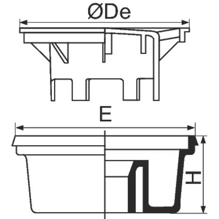 Siphon de cour PVC-1