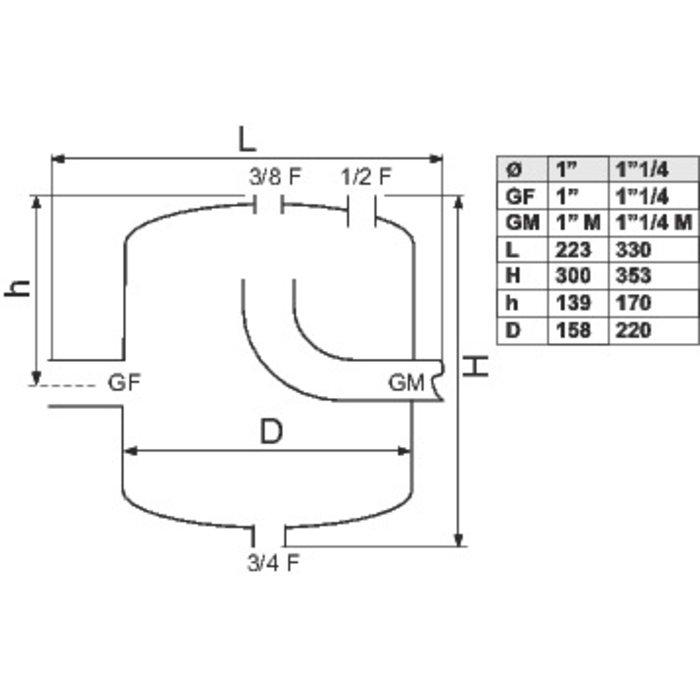 Pot de décantation - Pour installation domestique - Acier-1