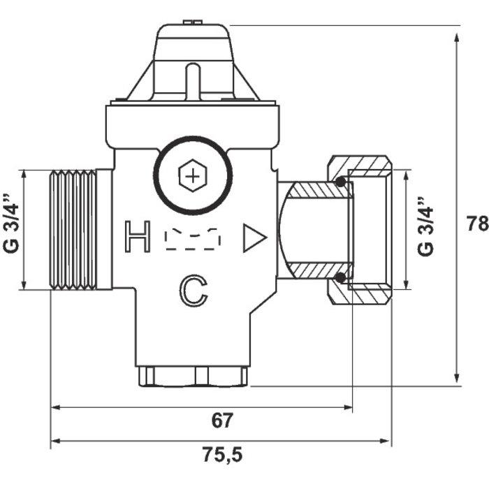 Réducteur de pression Rédufix - Mâle / Femelle-1