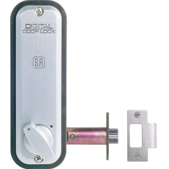 Serrure à code 2230 - À larder - Aluminium brossé-3