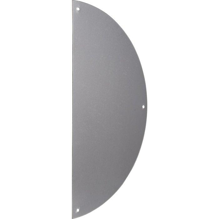 Plaque de propreté demi-lune - Aluminium - Argent - Dimension 300 x 150 mm