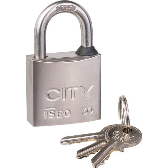 Cadenas à clé - Anse inox - Avec 3 clés-1