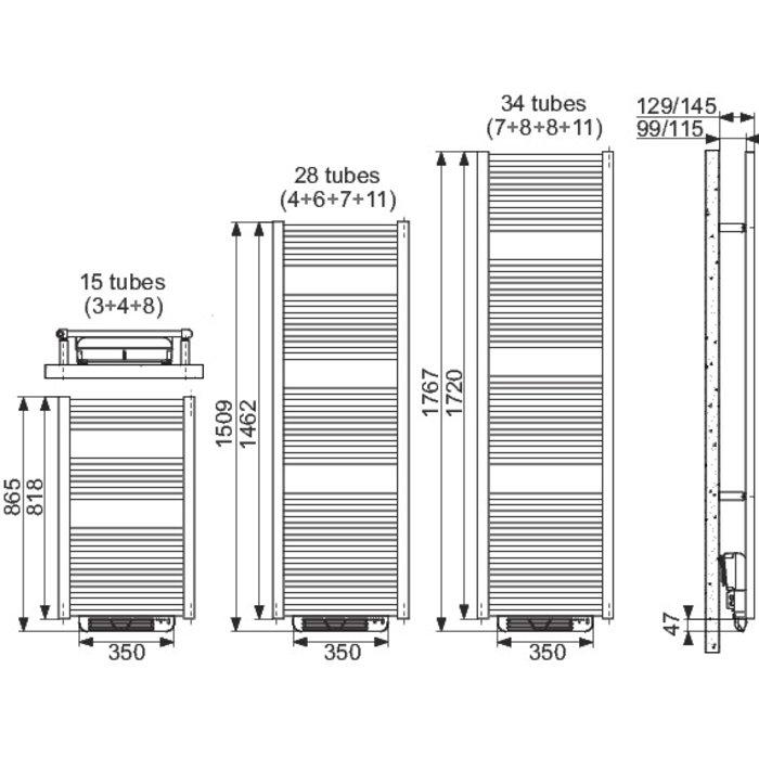 Sèche-serviette Booster Ares - Blanc - Largeur 53 cm-1