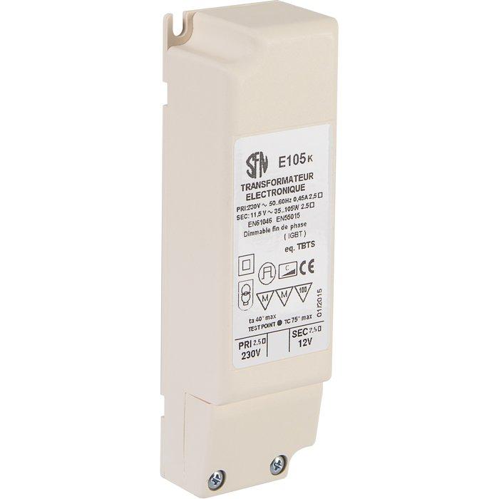 Transformateur électronique - Pour ampoule halogène - Puissance 20 W