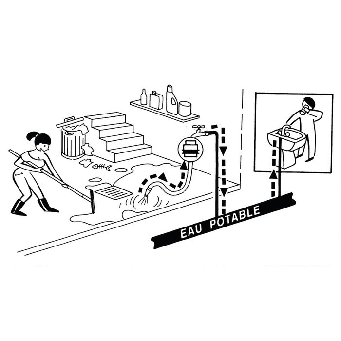 Clapet anti-vide pour le bâtiment - Mâle / Femelle-1