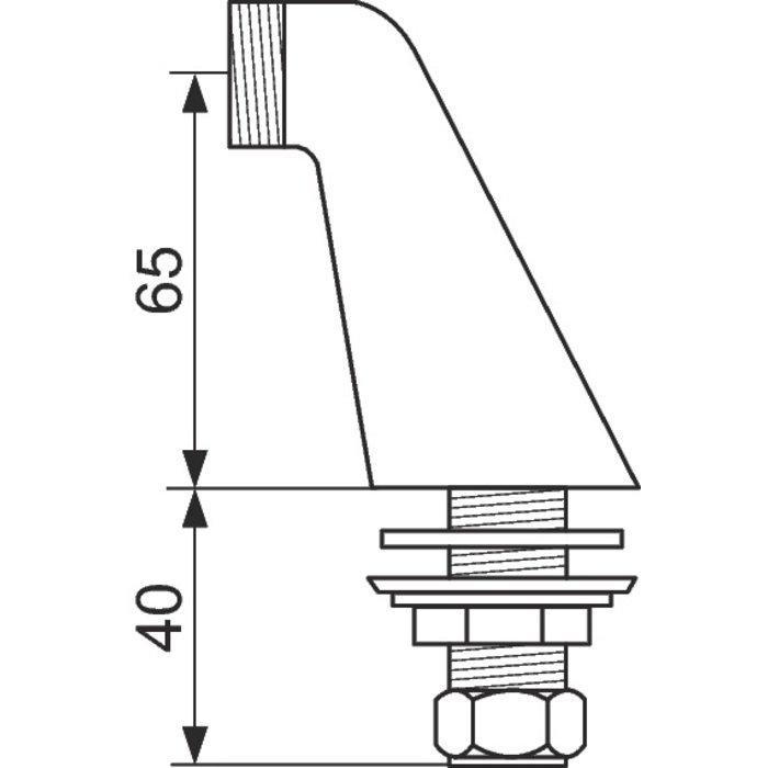 Colonnette Luxe - Mâle / Mâle - Chromée-1
