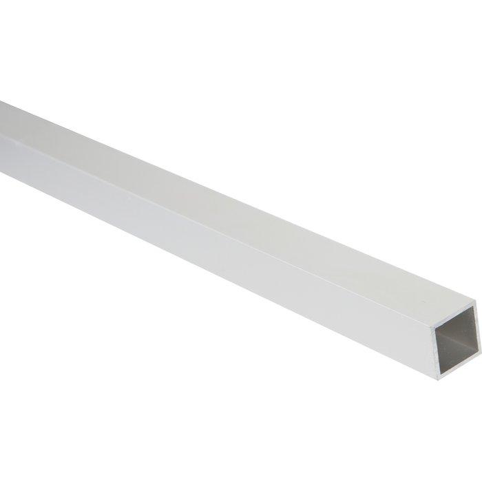 Carré creux aluminium satiné