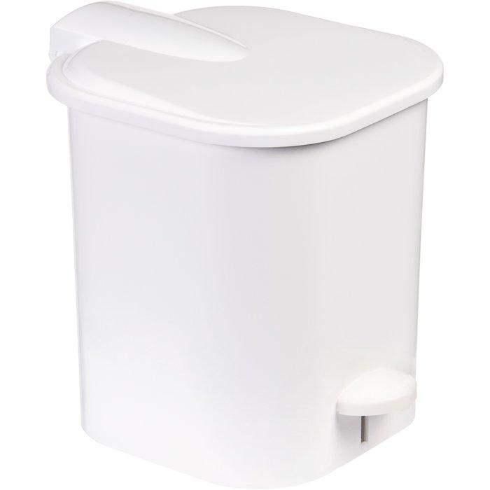 Poubelle sanitaire carrée - À pédale - Plastique